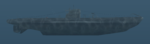 File:Type IID - U-boat - Right side shot.png