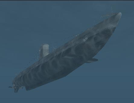 File:Type IIA - U-boat - Angled front below shot.png