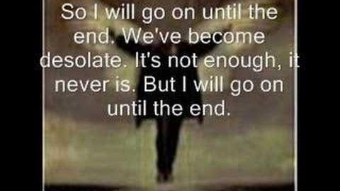 Breaking Benjamin - Until the End Lyrics