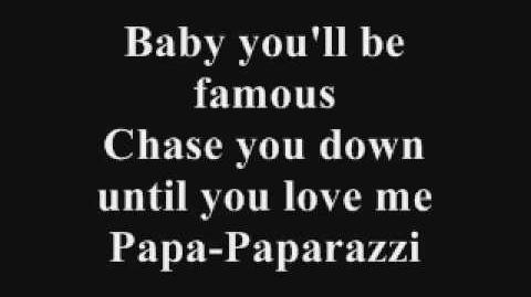 Lady Gaga Paparazzi Lyrics