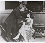 Clara Bow gets her makeup done by Max Factor - Around late 1920s