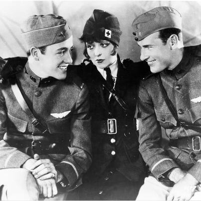 File:Wings was the first film, and the only silent film, to win the Academy Award for Best Picture. Wings stars Clara Bow, Charles Buddy Rogers, and Richard Arlen..jpg