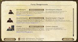 Party assignments