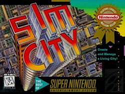 SimCity SNES box art