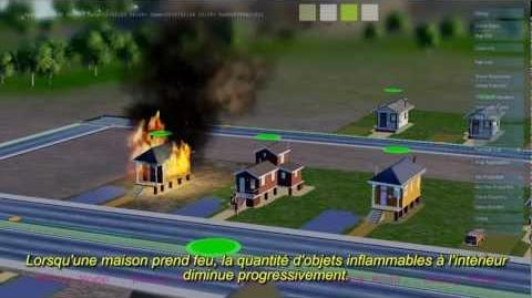 SimCity présentation du moteur GLASSBOX - Partie 4 Le feu