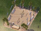 沙灘排球場