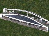 雙帆式地面捷運站