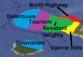 Coconut City Districts