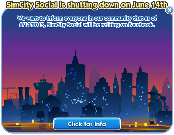 SimCity Social is shutting down on June 14th