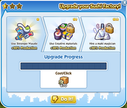 Factory sushi factory upgrade 1 process