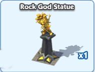 Rock gold statue