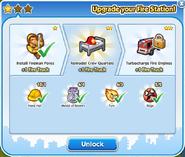 Fire station upgrade 2 unlock