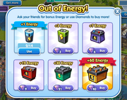 Out of energy