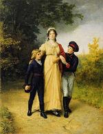 Königin Alexandra, Crown Prince Wilhelm & Prince Friedrich