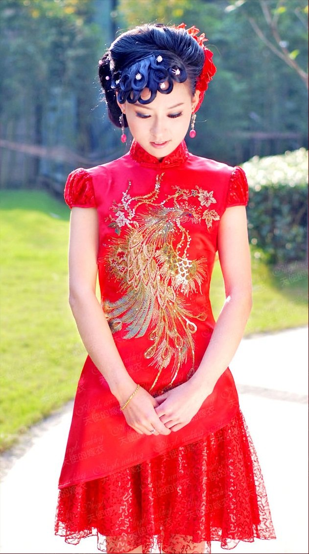 Image 2012 Newest Chinese Style Married Bridal Phoenix Handmade