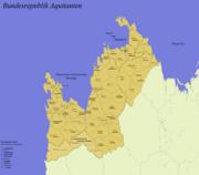 Geopolitical Map of Federal Aquitania