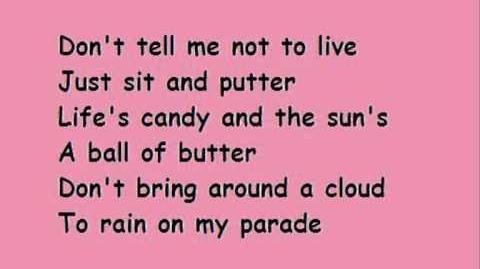 Don't rain on my parade Glee Lyrics