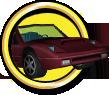 Red Ferrari Objective Icon