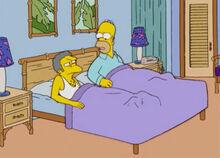 Homer e moe na cama