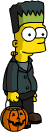 Tapped Out Bart Trick-or-Treating Costume