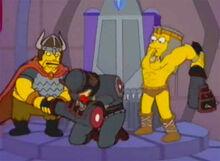 Guerreiro e barbaro espancam cavaleiro