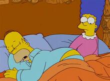 Marge olhando traseiro homer