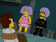 Patty and Selma as Sugar and Spice