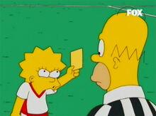 Homer cartão amarelo lisa 2