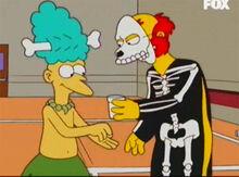Sideshow mel suco willy esqueleto
