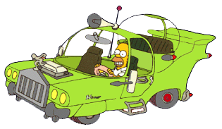 "Homer Simpson's one-of-a-kind car, ""The Homer"""