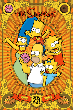 Poster Simpsons 20th by domnx