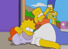 Bart elbowdrop homer