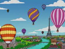 Bart lisa balões europa