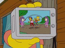 Bart milhouse corda gêmeas câmera nelson