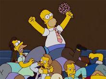 Homer pega buquê briga