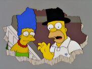 Marge e homer velhos no futuro
