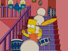 Bart bateria escadas casa