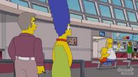 Homer i Lisa oglądają obraz