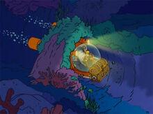Homer submarino enroscado