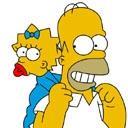Simpsons Homer-Lisa