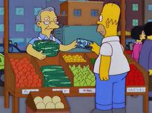 Homer melancia quadrada dinheiro