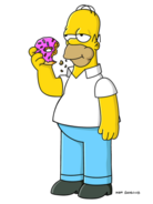 Homer simpson and donut-1090