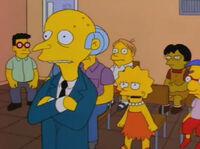 Lisa sprzeciwia się Burnsowi