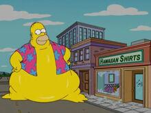 Homer monstro camisa havaiana