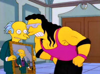 Pan Burns i Bret Hart