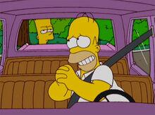 Homer bart carro apuros