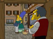 Homer marge beijo moe porta