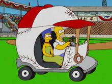 Marge homer carrinho beisebol
