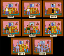 Simpsons retratos familia 2006-13