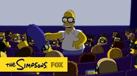 "Theater Etiquette from ""Steal This Episode"" THE SIMPSONS ANIMATION on FOX"